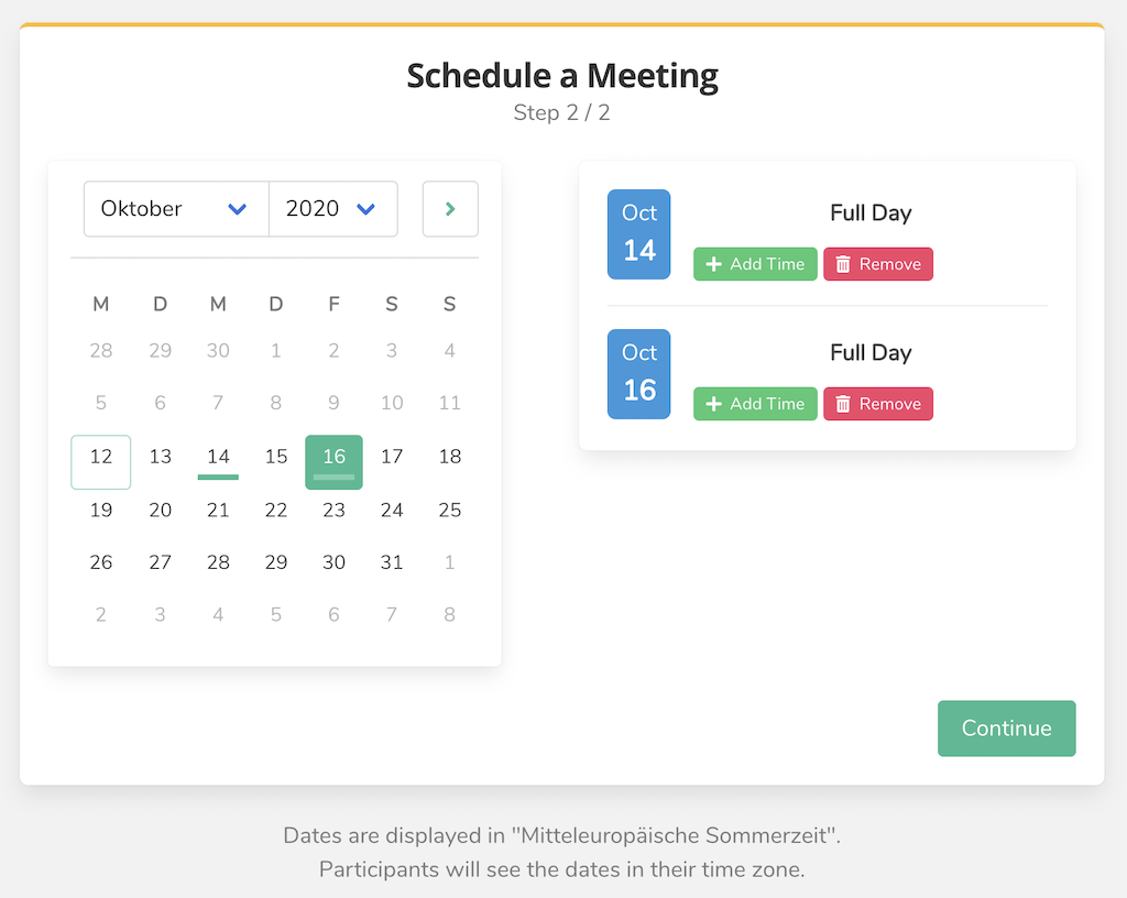Schedule Meeting Step 2.2